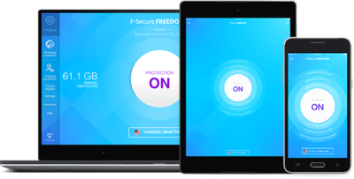 Laptop, Tablet & Smartphone mit F-Secure Software